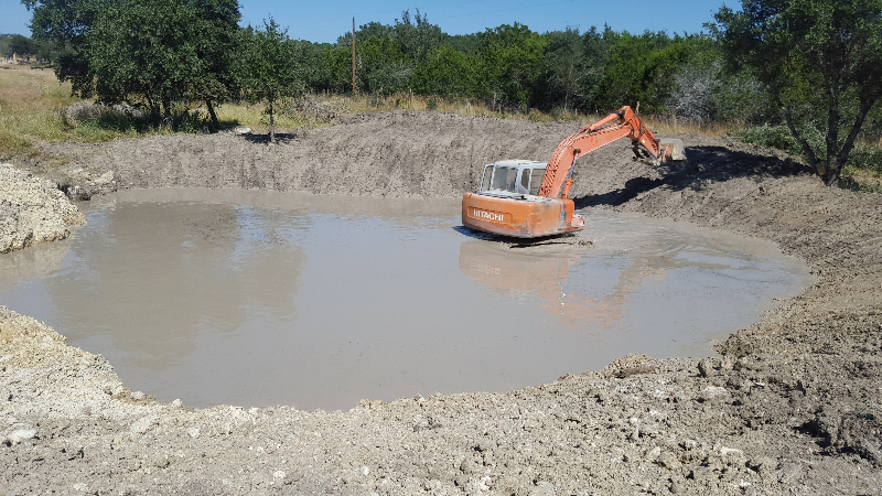 Lake Pond Construction - Hill Country Land and Tree Services